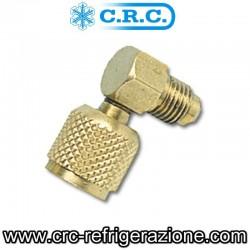 RACCORDO AD ANGOLO MOD. RG090 1/4 F. X 1/4 M.